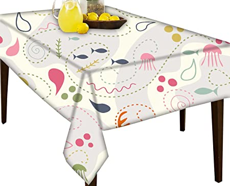 Garden Furniture & Accessories Tablecloths Discover Direct Novelty Dinosaur White Design Wipe Clean PVC Vinyl Tablecloth Cover Protector in Width 140cm Sold by the metre