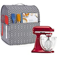 Yarwo Dust Cover for 4.5 qt and All 5 qt Stand Mixer, Cotton Canvas Protective Stand Mixer Cover with Top Handle and…