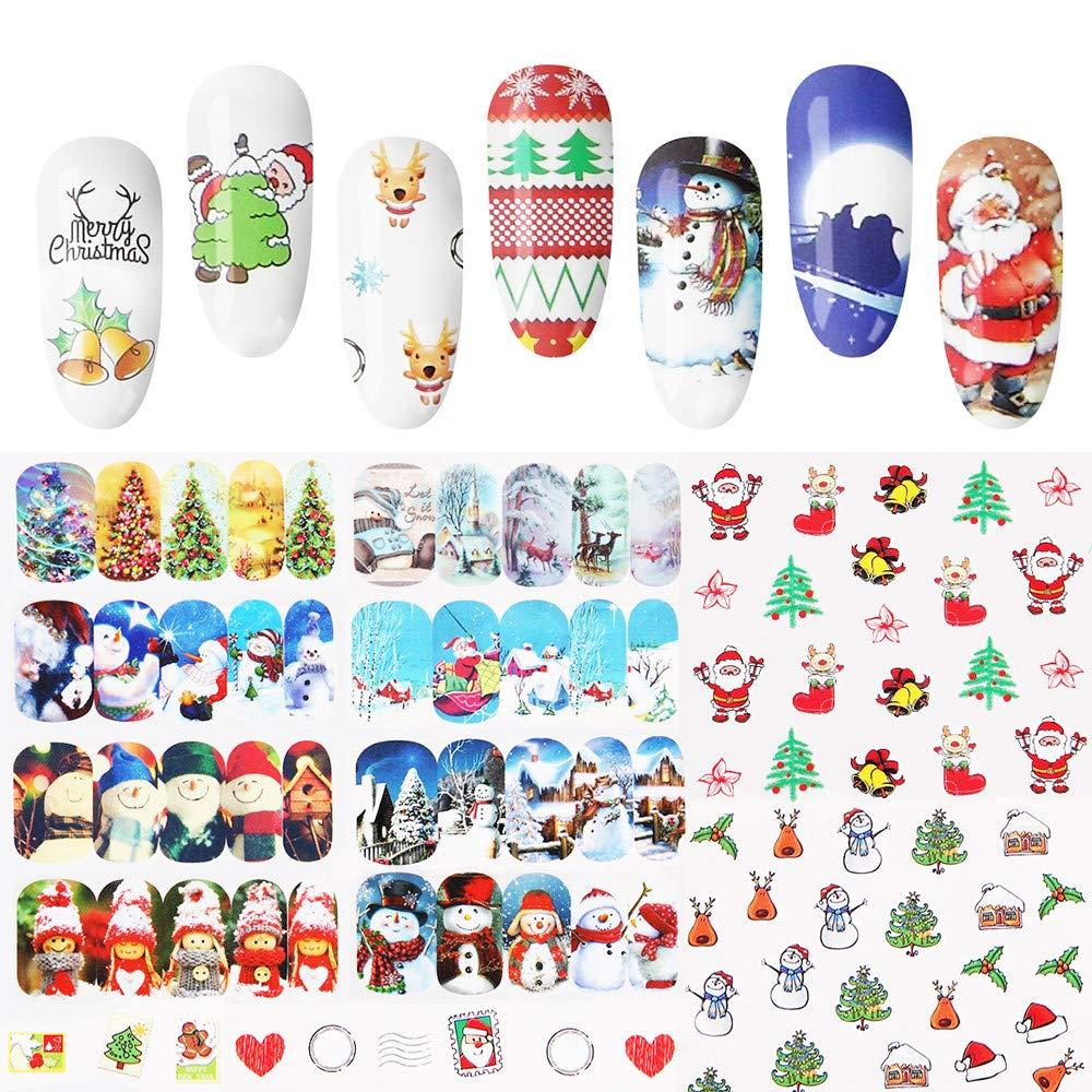 Celendi_48PCS DIY Christmas Snowflake Art Nail Set Stickers CMY-9988