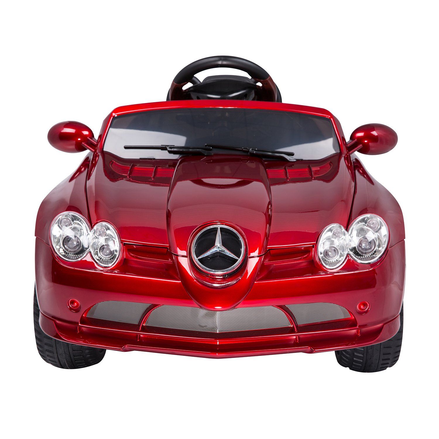 amazoncom mercedes benz 722s kids 12v electric ride on toy car w parent remote control red by aosom toys games