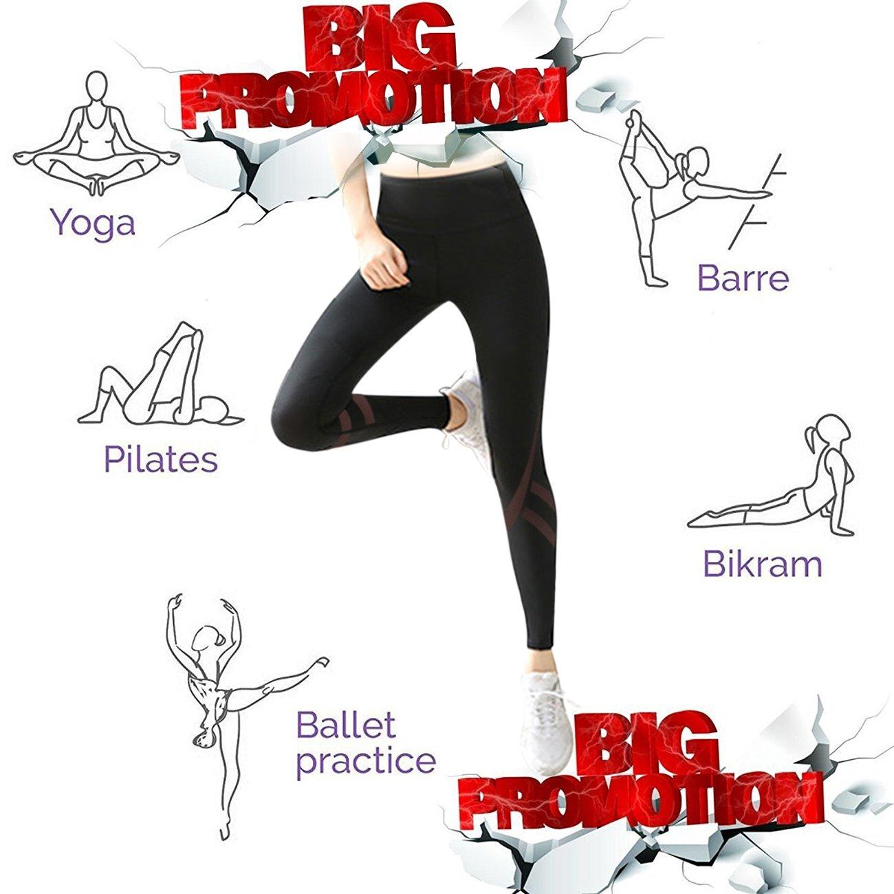Mujer Pantalones Deporte Leggings Adelgazante Gym con Malla ...