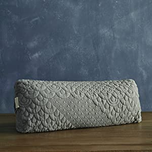 Brentwood Home Crystal Cove Yoga Bolster, Buckwheat Fill Rectangular Support Pillow, Made in California