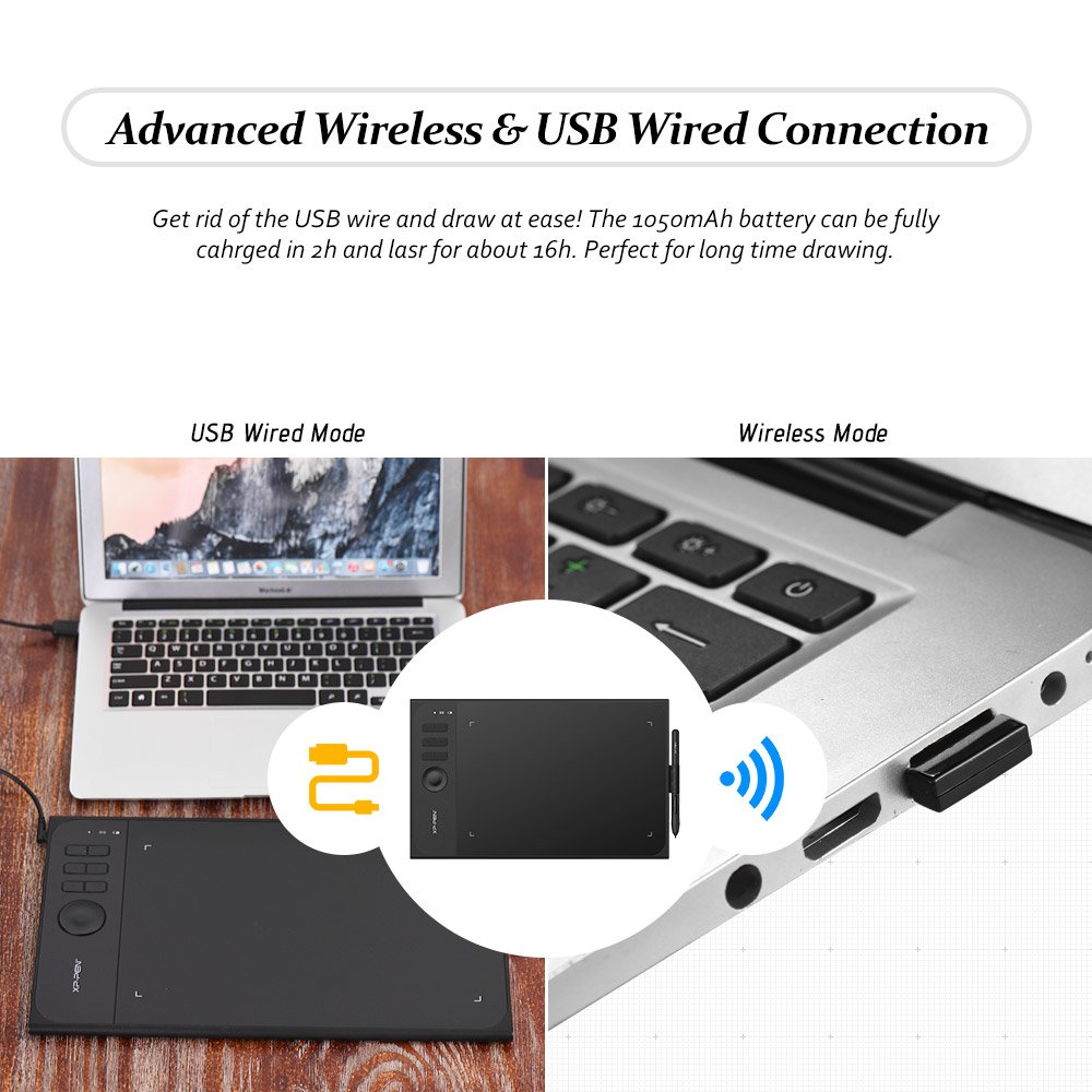 Amazon.com: XP-PEN Star 06 2.4G Wireless USB Wired Graphics Drawing ...