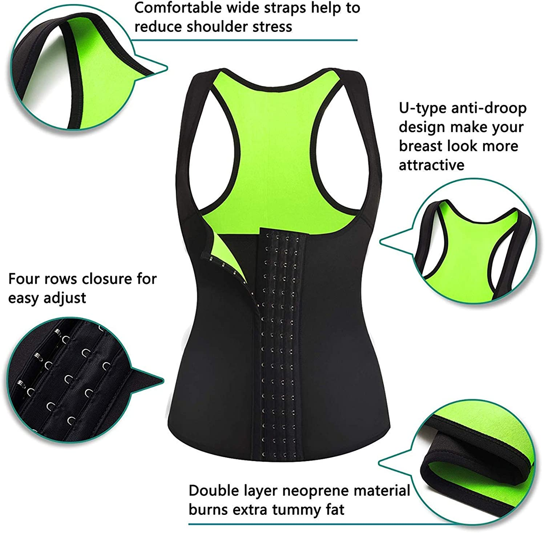 Chumian Neopren Taillen-Trainer Korsett Sauna Sweat Vest Gewichtsverlust Slimming Body Shaper Workout Tank Tops Frauen
