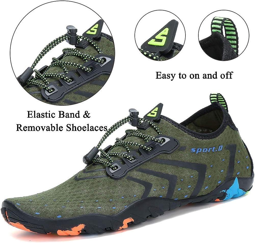 Lxso Women Men Water Shoes Quick Dry Barefoot Sports Aqua Durable Outsole Shoes for Swim Beach Aerobics Surf Yoga Exercise