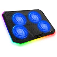 havit Base de Refrigeracion Portatil RGB Gaming Cooler con 4 Ventiladores silenciosos y Controles táctiles, Almohadilla…