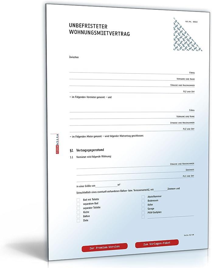 Mietvertrag Download Vertrag Lebenslauf Vorlagen 11
