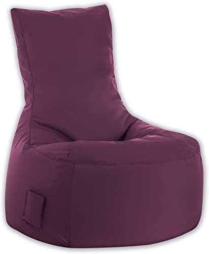 Gouchee Home Brava Swing Collection Polyester Upholstered Bean Bag Armless Lounge Chair