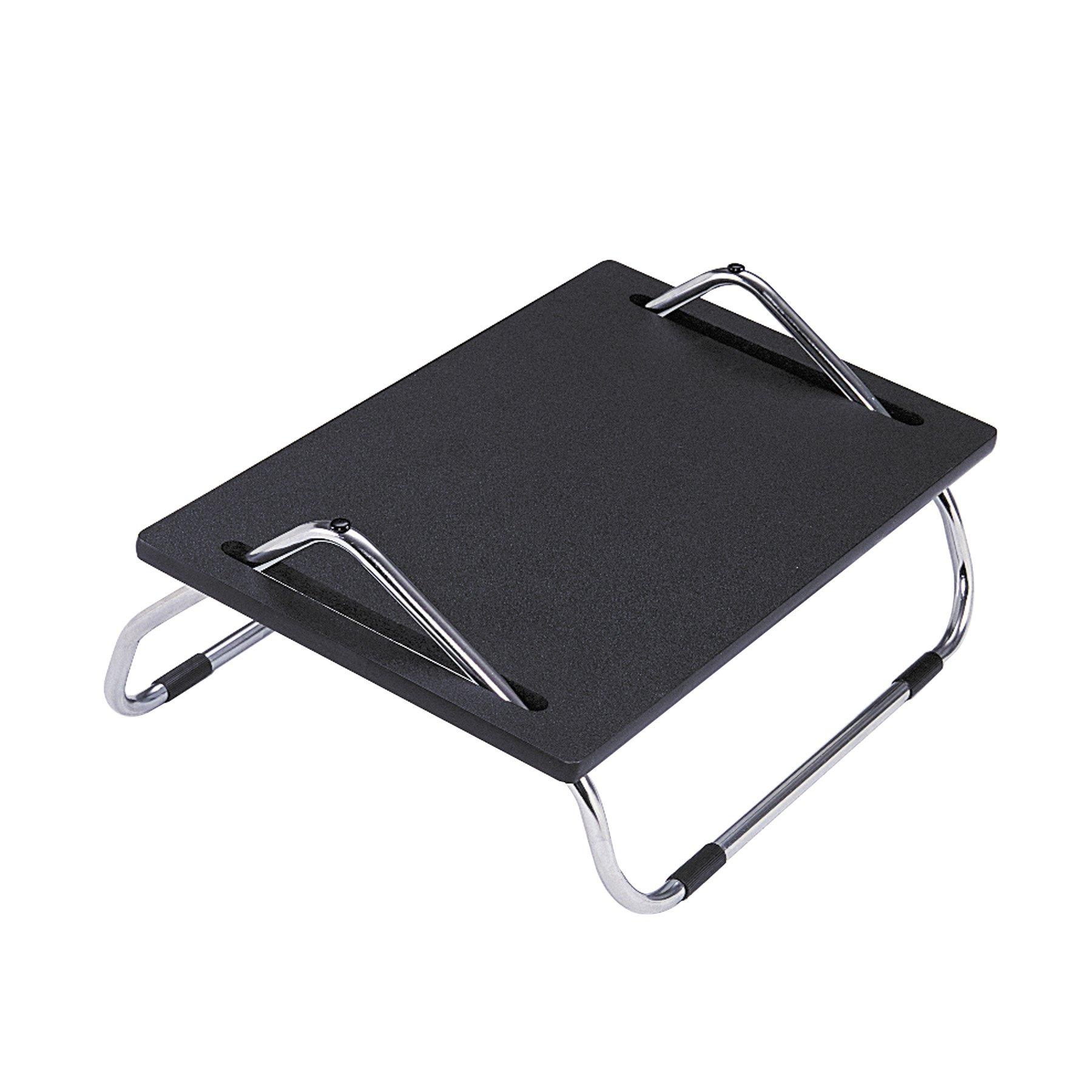 Safco Products 2106 Ergo-Comfort 8'' High Adjustable Footrest, Black