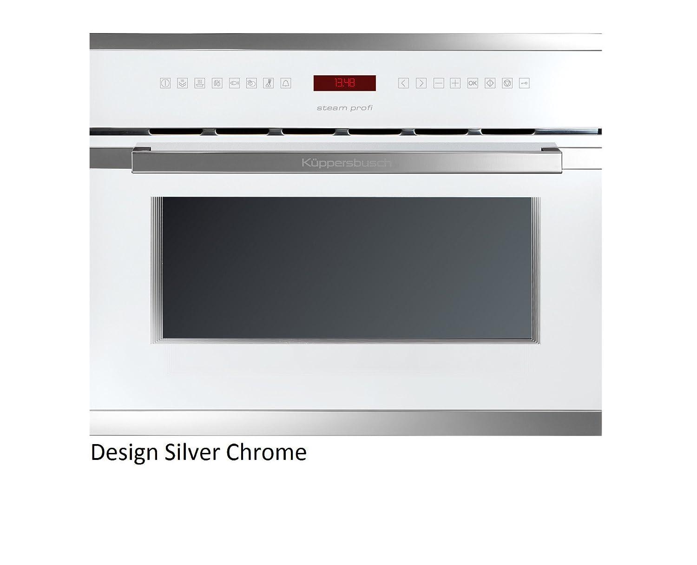 Küppersbusch Einbau-Dampfgarer EDG6550.0, 45 x 56 cm, Design:weiß + Silver Chrome