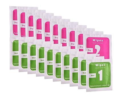 Paquete de 20 mini toallitas con embalaje individual para la limpieza de la pantalla de su