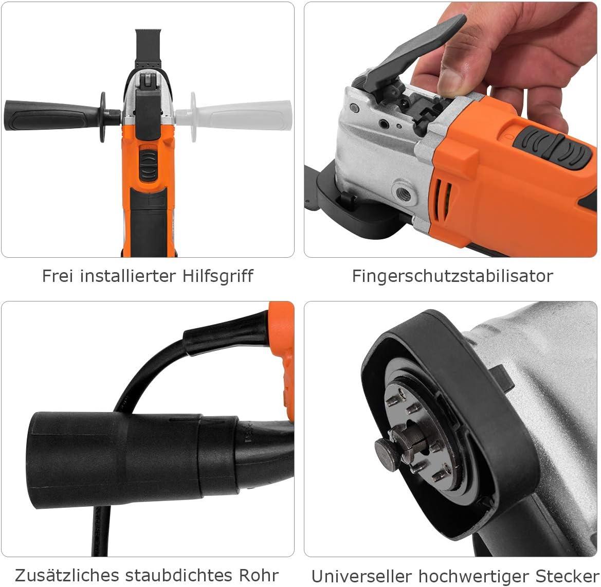 6 Geschwindigkeitstufen COSTWAY Multifunktionswerkzeug mit 14 Teilen Oszillationswerkzeug Oszillierer Multitool elektrischer Multi-Cutter 3/° Oszillationswinkel 15000-23000rpm 300W