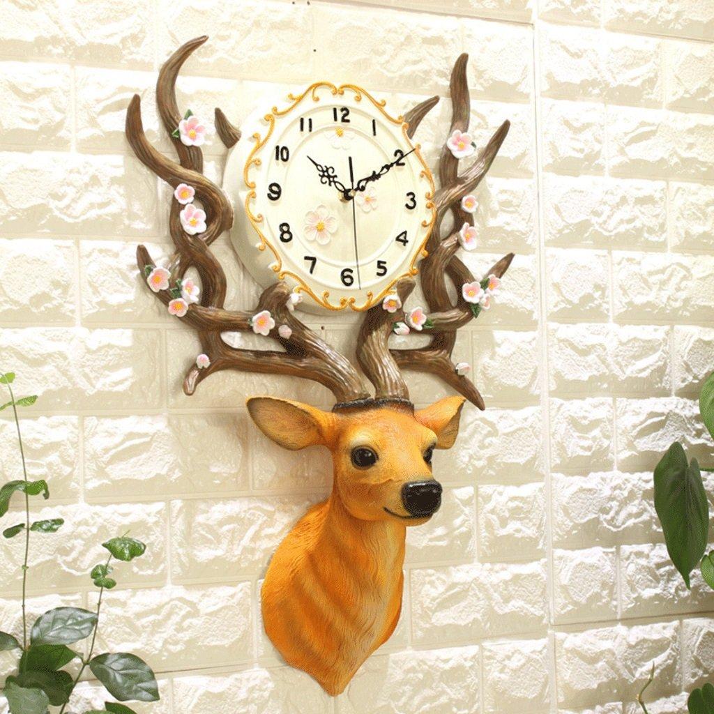 TXXM® クリエイティブウォールクロックリビングルーム時計レストランモダンミニマリストクォーツ時計ベッドルーム装飾吊りテーブル (色 : A) B07F6F1Q1T A A