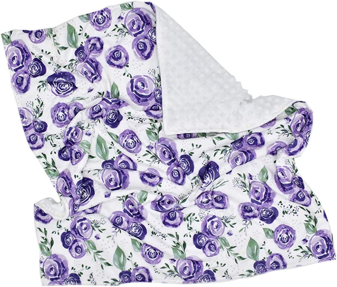 Borlai Manta de Bebé Manta de Recepción Suave Manta de Guardería Envoltura Transpirable 80 X 75 Cm