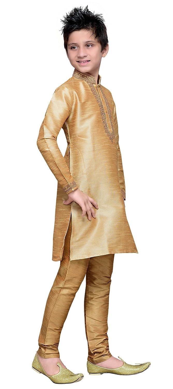 Cellora Dupion Silk Kids Kurta Churidar Pajama 1-14 Years Dupion Silk Party Wear Dress