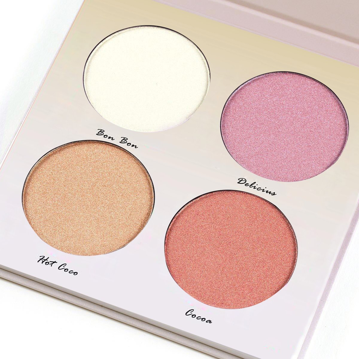 Aurelife Go Glow -- 4 Color Makeup Llluminator Highlighter & Bronzer Collection Glow Kit Matte Face Palette