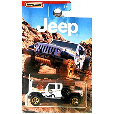 Matchbox Jeep Series Walmart Exclusive Jeep Gladiator Pickup Truck White: Toys & Games