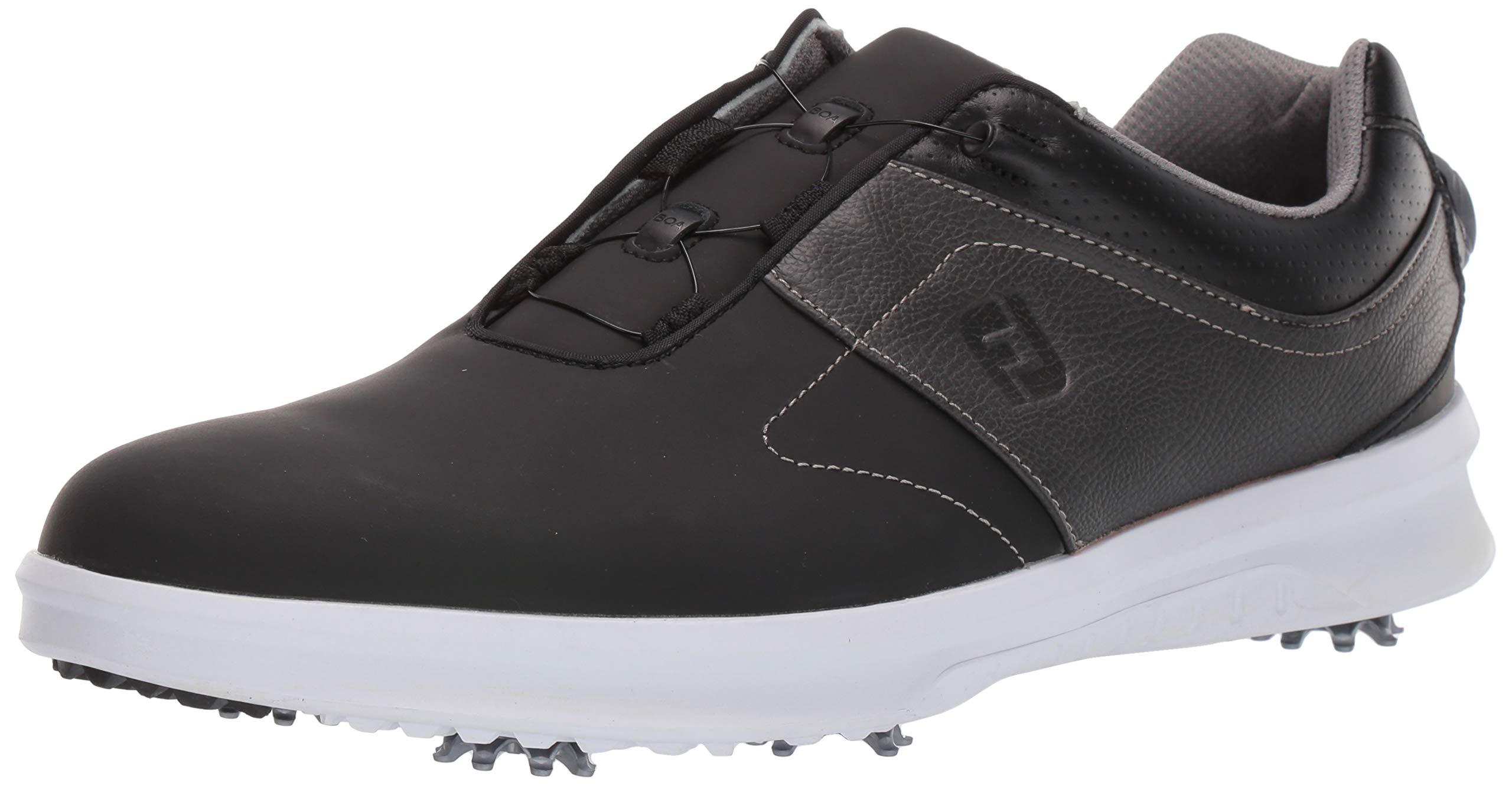FootJoy Men's Contour Series Boa Golf Shoes, Charcoal, 10.5 M US by FootJoy