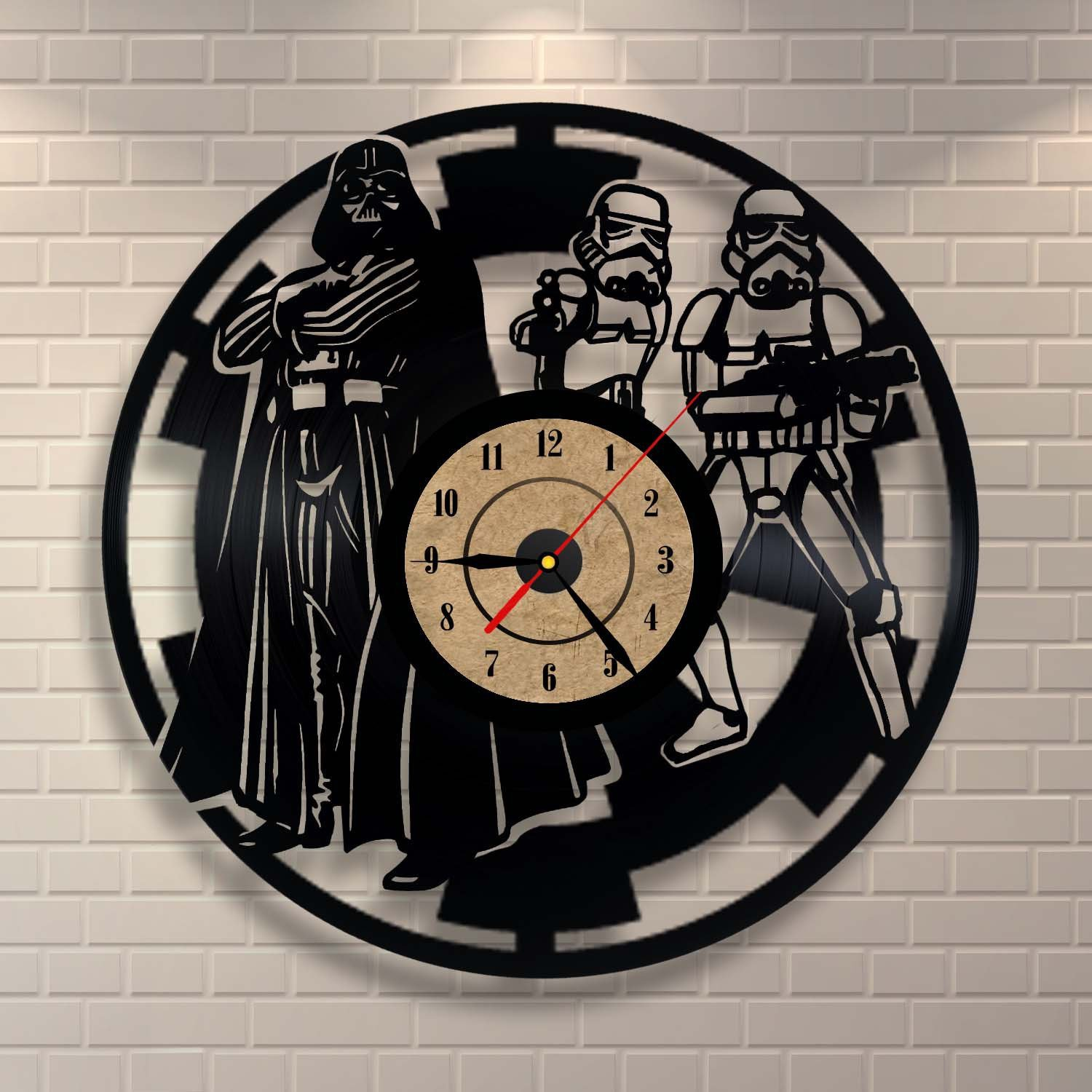 Dekorative Vinyl Clock Star wars Design-Wand-Dekor