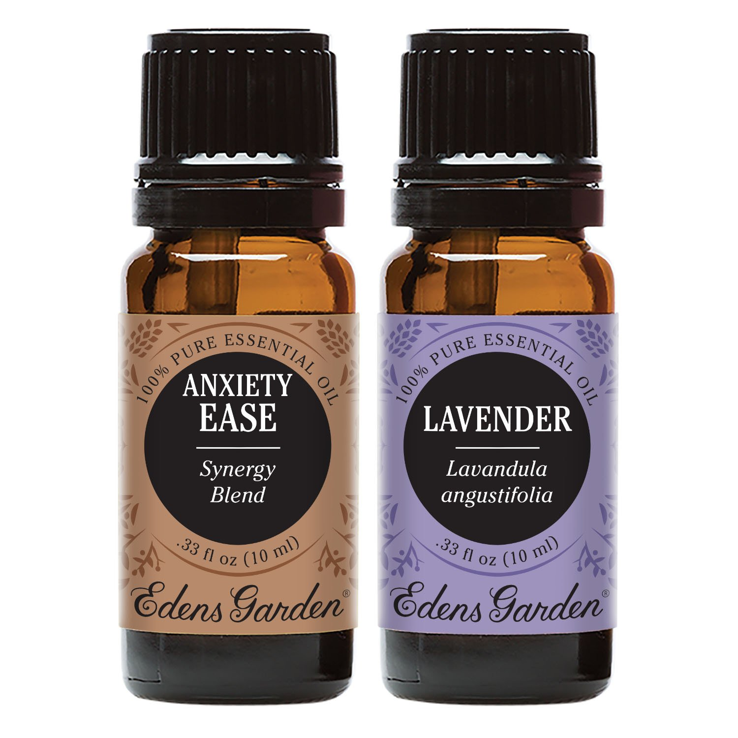 Edens Garden Anxiety Ease + Lavender Essential Oil Set, Best 100% Pure Aromatherapy Starter Kit (For Diffuser & Therapeutic Use), 10 ml
