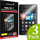 """Fire 7 Screen Protector - Pasonomi® [3-PACK] [HD Clear] Premium Anti-Glare Screen Protector For Amazon Kindle Fire 7"""" Tablet (5th Generation - 2015 Release) (Fire 7 2015)"""