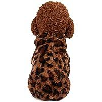 Ropa para perros, Otoño Invierno Abrigo para mascotas Ropa para perros de leopardo encantador, Pijamas suaves Ropa de…