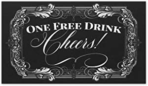 Drink Tickets for Events - One Free Drink Cheers for Black Tie Formal Wedding - Size 3.5x2 Inches - Pack of 50