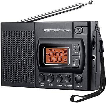 LIUDOU Portable Am / FM, Radio Pequeña con Altavoz ...