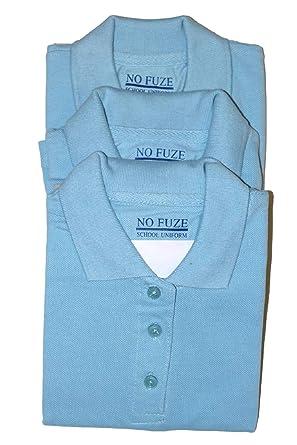 671b9074b305 Amazon.com  FGR Girls School Uniform Short Sleeve Polo Tops in a 3 ...