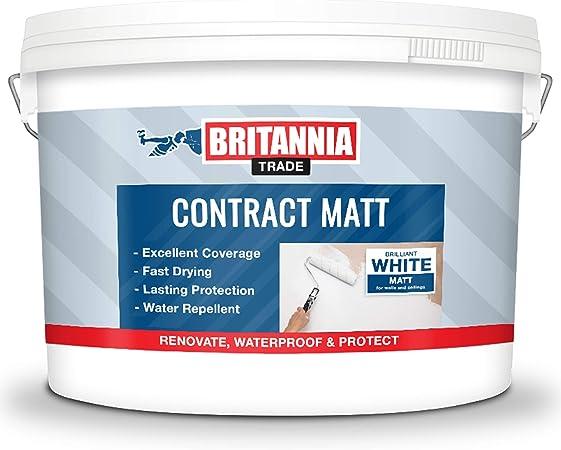 Britannia Peinture Emulsion Mate Pour Murs Et Plafonds 10 Litres