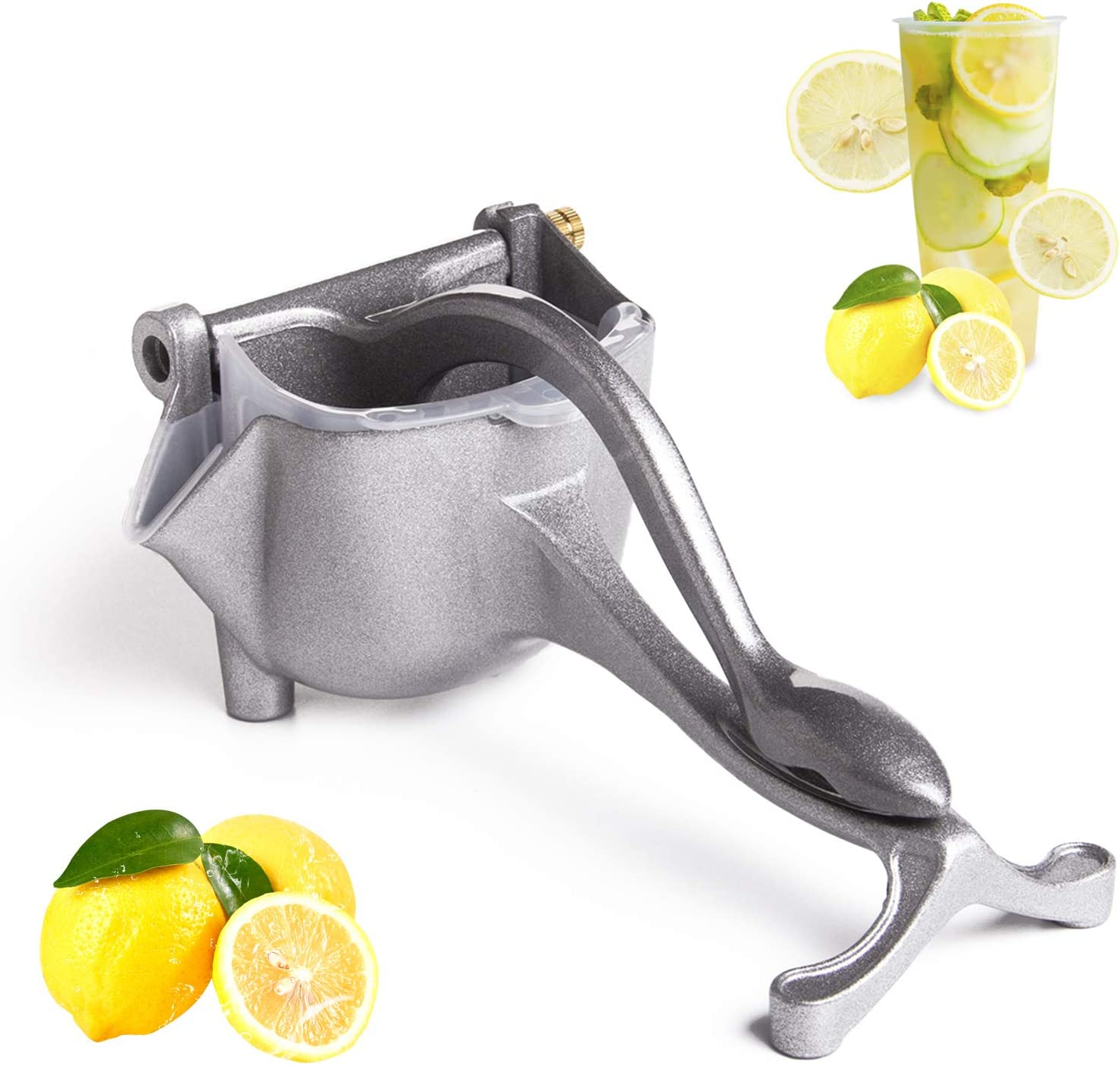 FIFOKICHO Manual juicer, Aluminum Alloy Fruit Squeezer, Best Gift for Mother of Heavy Duty Juice Press Squeezer for Orange, and Lemon