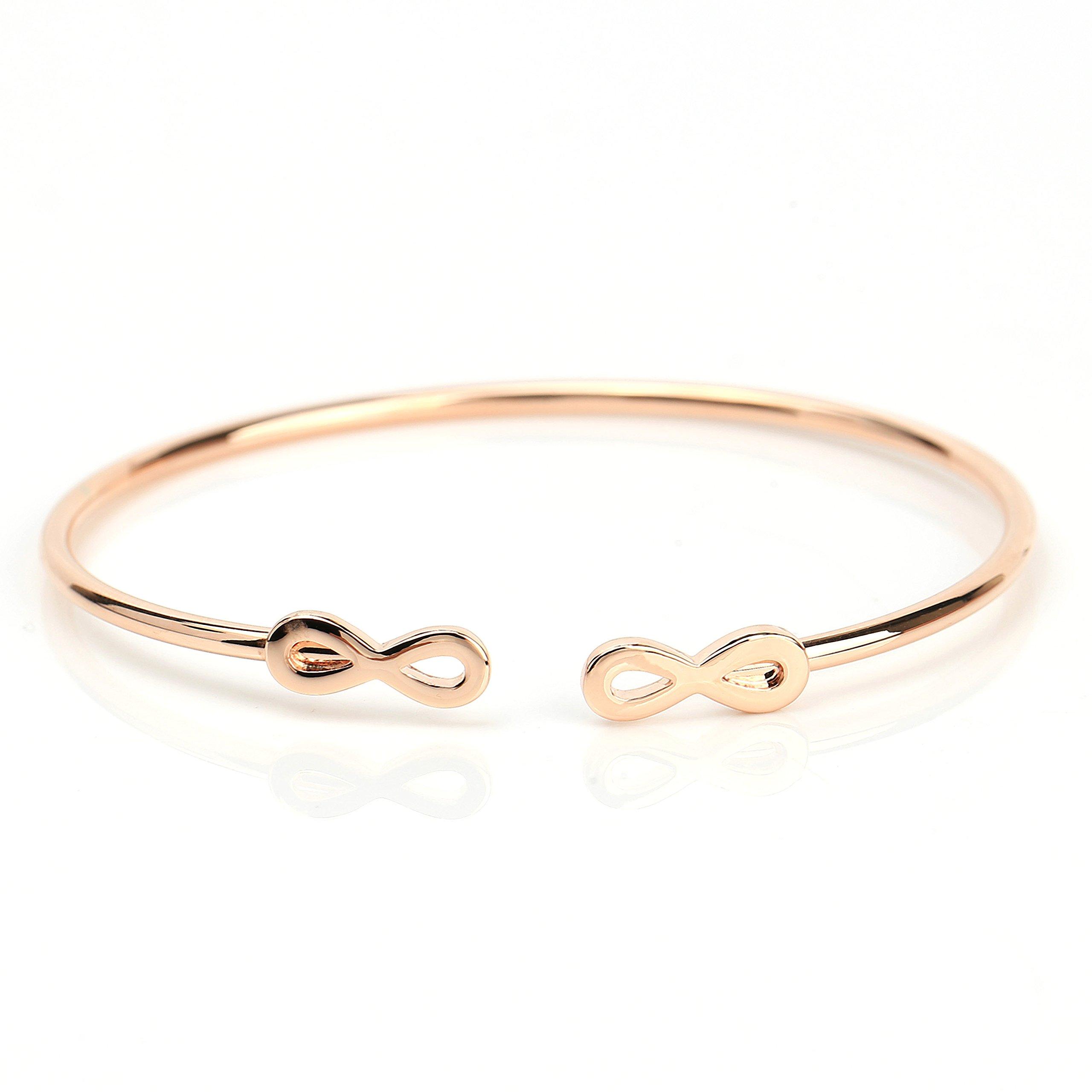 United Elegance Stylish Designer Bangle Bracelet with Contemporary Infinity Design