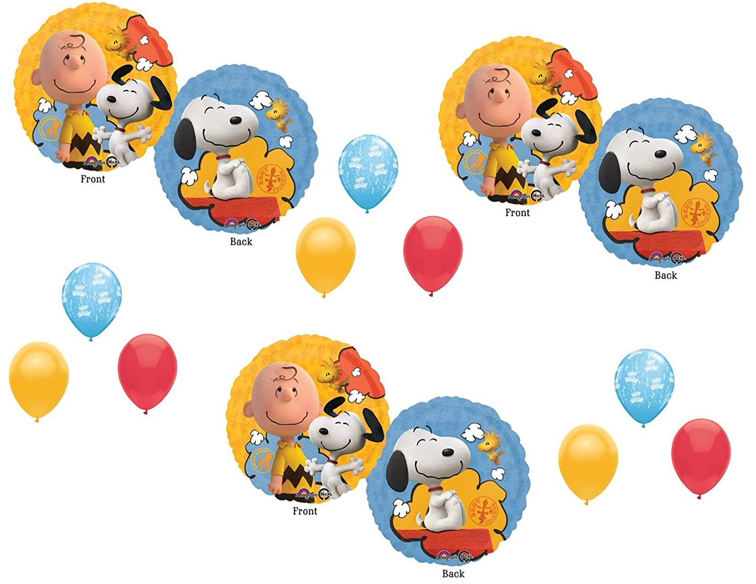 Amazon.com: Peanuts Charlie Brown Balloons Decoration Supplies Party ...