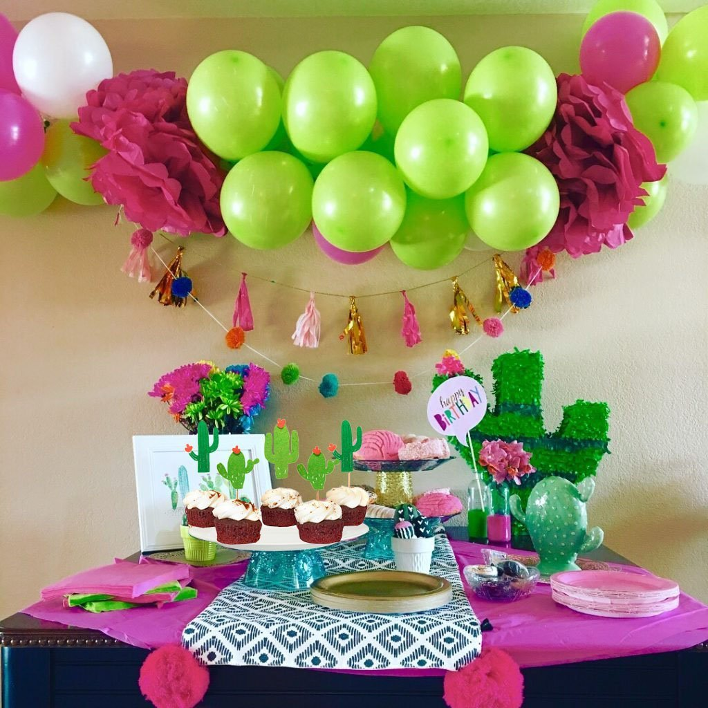 48 Pieces Cactus Cupcake Toppers Cupcake Picks and 1 Pack Cactus Banner for Fiesta West Cacti Theme Birthday Party Supplies Baby shower Decoration by Living Show (Image #7)