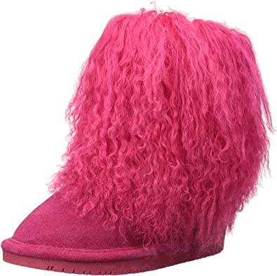 2 M US Little Kid Bearpaw Boo Youth Kid/'s Fuzzy Bo Electric//Pink