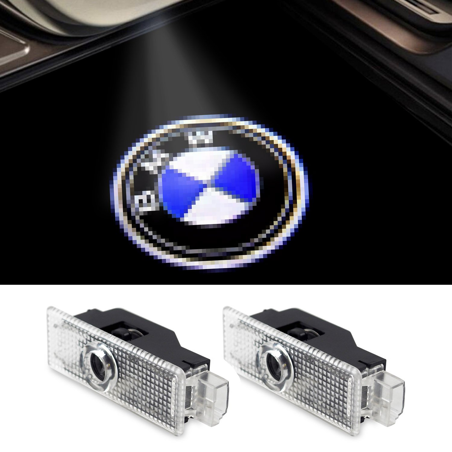 2-Pack Car Door LED Logo Projector Accessories Welcome Lights For Mini Cooper