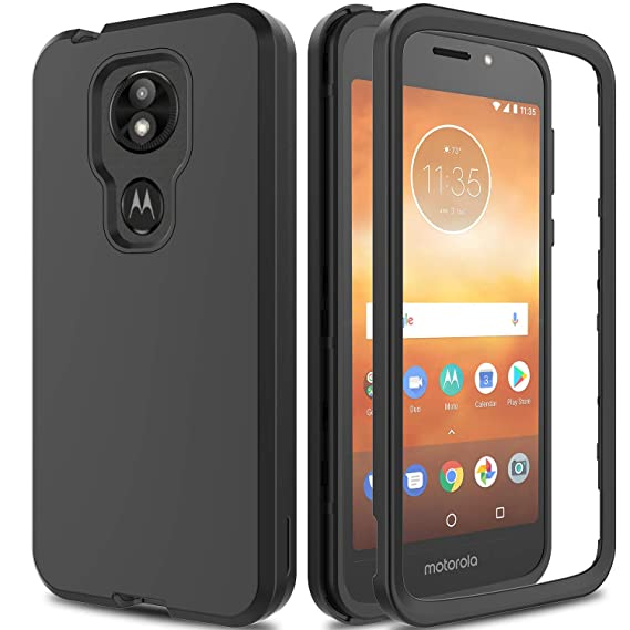 lower price with 70fd9 f2682 AMENQ Motorola E5 Supra case, Moto E5 Plus Case 3 in 1 Hybrid Heavy Duty  Shockproof with Rugged Hard PC and TPU Bumper Protective Armor Phone Cover  ...