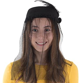 719a5305cefd7 Tigerdoe Pillbox Hat - Funeral Hats for Women - Hat with Veil - Widow Hat  with