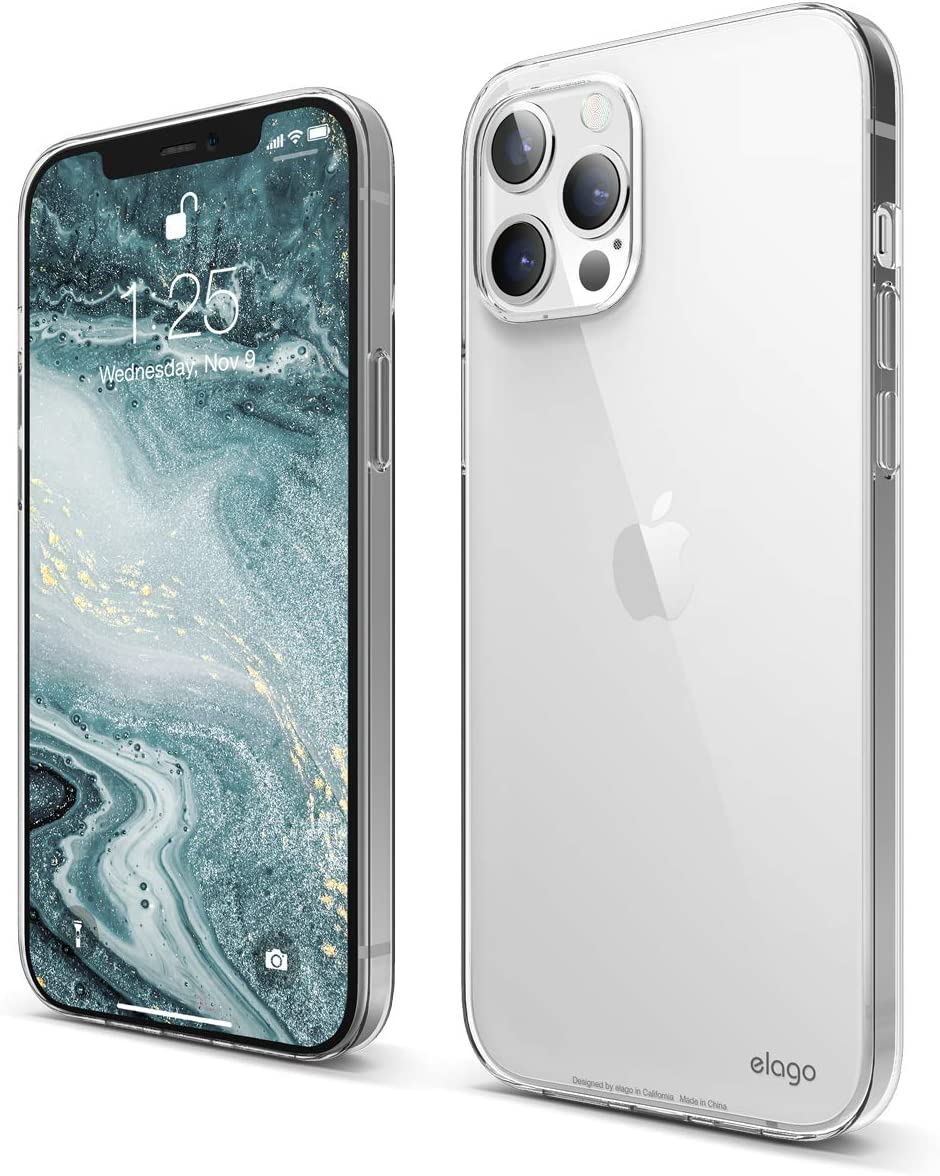 elago Clear Case Compatible with iPhone 12 Pro Max 6.7 inch, Shockproof Case, Scratch Resistant, Flexible, Screen & Camera Protection (Clear)