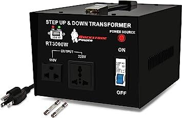 110V//220V Step Up//Down ELC T-3000+ 3000-Watt Voltage Converter Transformer Circuit Breaker Protection Heavy Duty