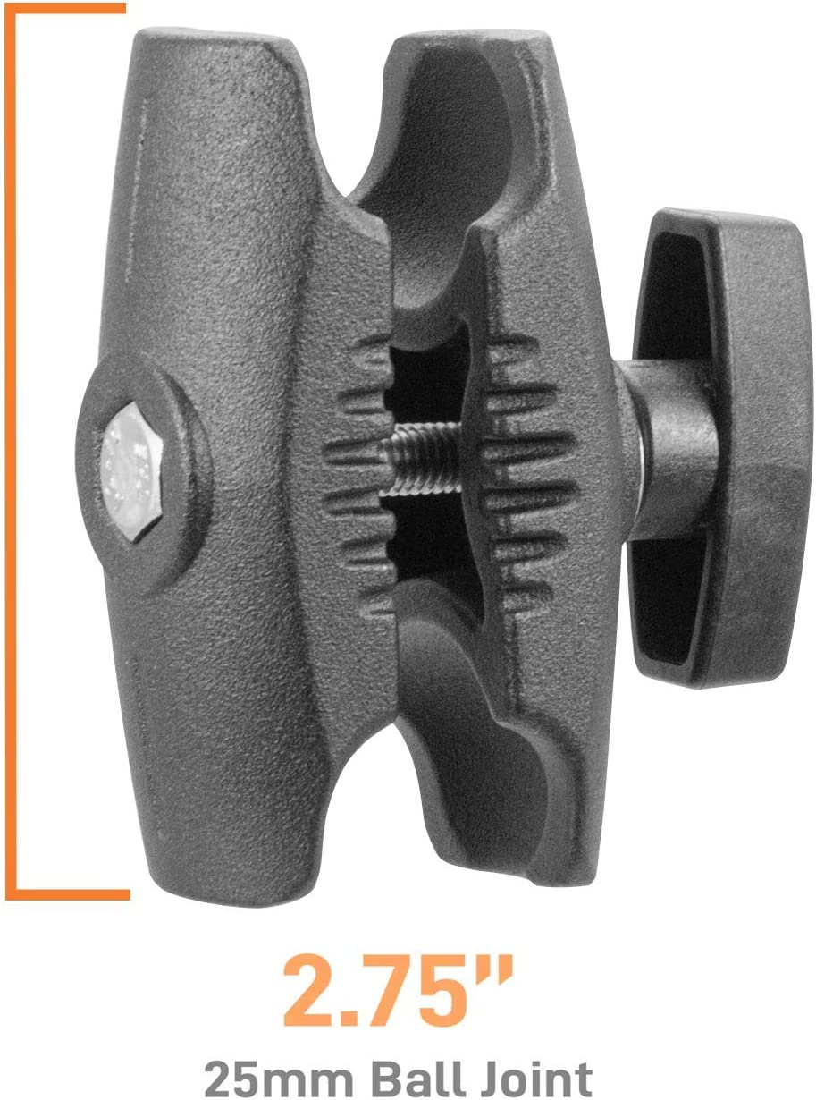 B Size Ball adapters iBOLT Composite 2.75 inch Double Socket Arm for All Industry Standard 1-inch 25mm