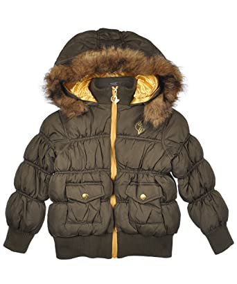 a73f9809d34 Amazon.com  Baby Phat Little Girls Rouched Bomber Jacket  Clothing