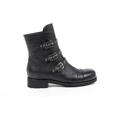 c93f6c891d7 Jimmy Choo Jimmy Choo Womens Short Boot DOVER GRAINY LTHR BLACK NERO:  Amazon.co.uk: Shoes & Bags