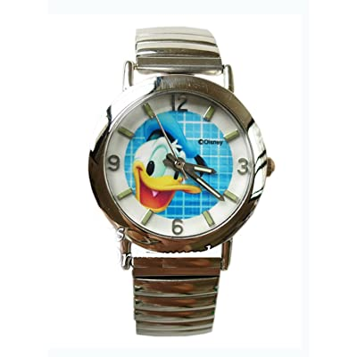 Silver Donald Duck Stretch Bracelet Watch: Health & Personal Care