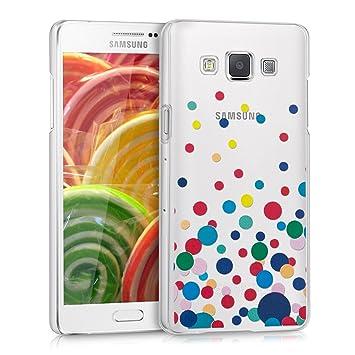 kwmobile Funda para Samsung Galaxy A5 (2015) - Carcasa de [plástico] para móvil - Protector [Trasero] Rojo/Transparente