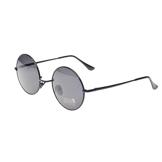 03f0cef39044 Round Lennon Glasses Steampunk Sunglasses 50s Cyber Goggles Vintage Retro  Style Hippy Ganja Weed Leaf (Black) MFAZ Morefaz Ltd  Amazon.co.uk  Clothing