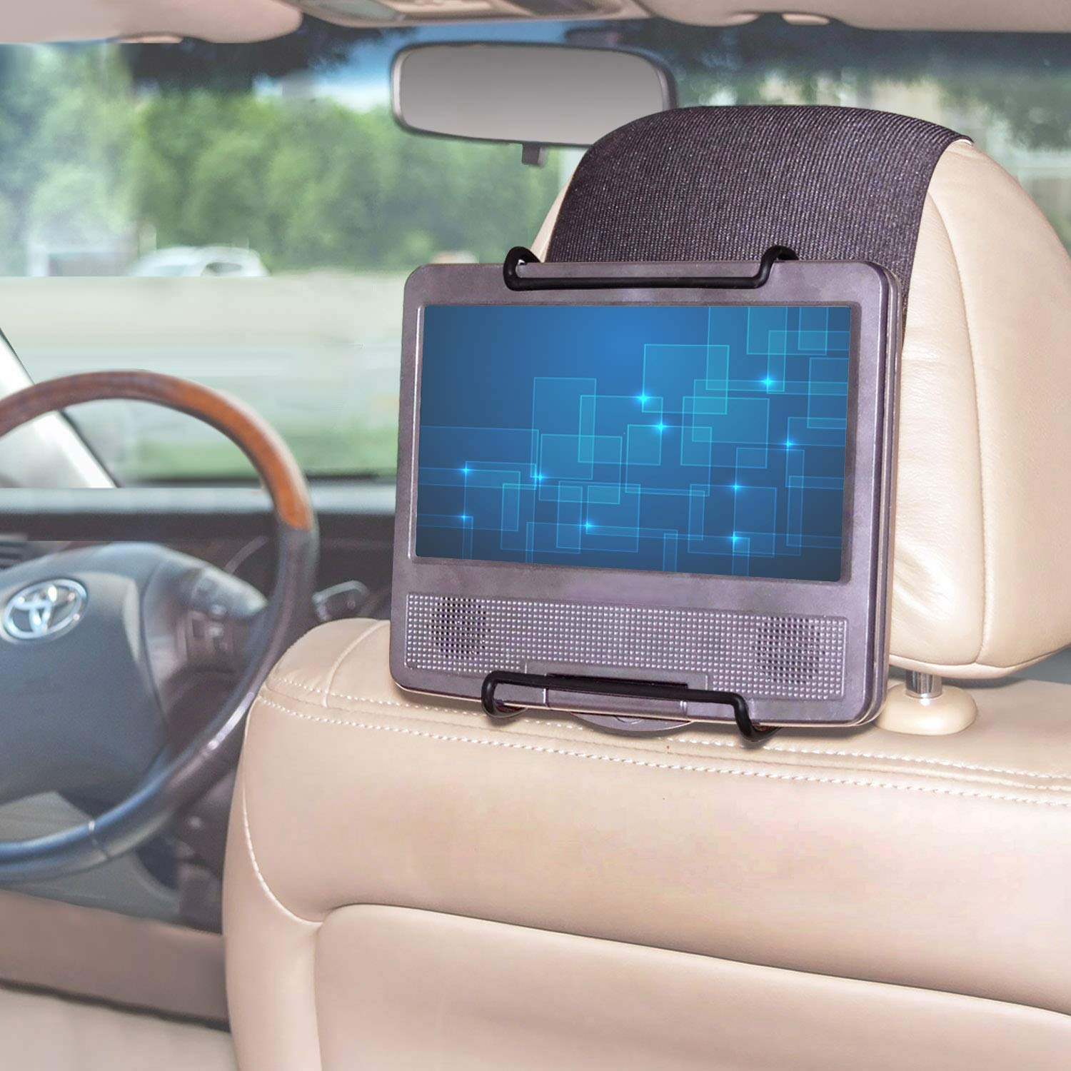 TFY Universal Car Headrest Mount Holder for Portable DVD Player by TFY