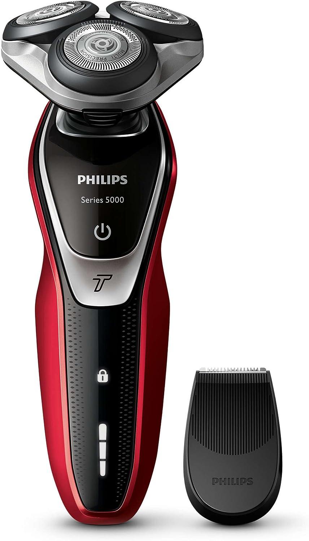 Philips S-5340/06 - Maquina de afeitar electrica, color rojo y negro: Amazon.es: Salud y cuidado personal