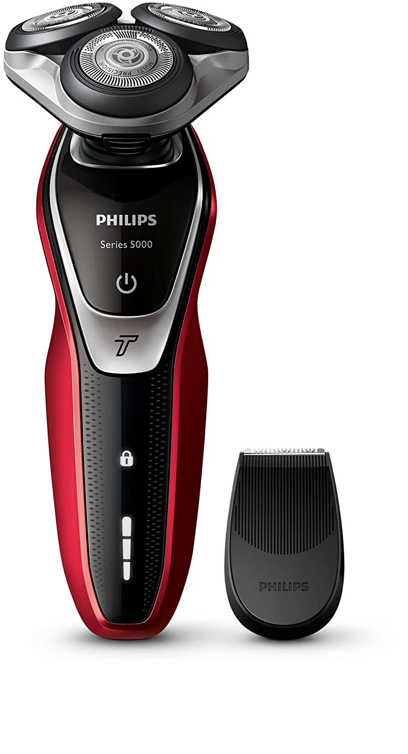 Philips Series 5000 Wet and Dry Men's Electric Shaver with Precision Trimmer Beard Detailer (UK 2-Pin Bathroom Plug) - S5340/06