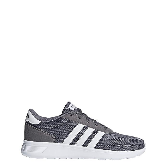 adidas Lite Racer Schuhe Herren grau mit weißen Streifen